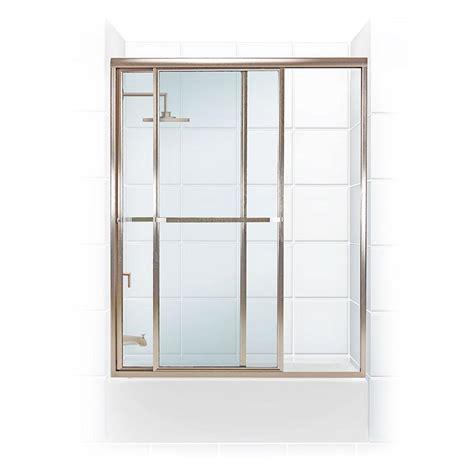 sliding shower doors home depot coastal shower doors paragon series 54 in x 55 in framed