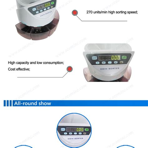 counting device with coin counting device with 8 coin slots high speed