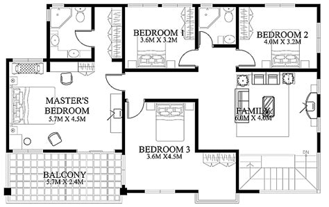 house floor plans and designs modern house design 2012002 eplans