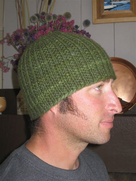 knit mens hat knit alone together hat here