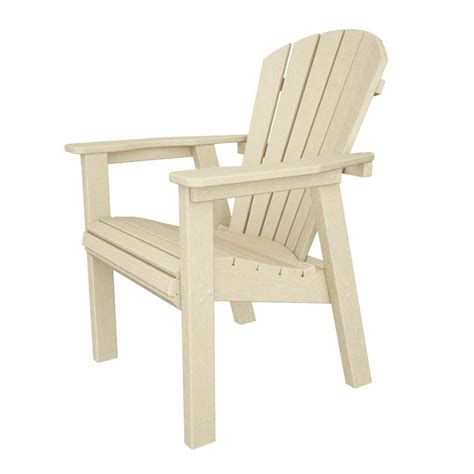 Plastic Adirondack Chairs Lowes by Shop Polywood Seashell Sand Recycled Plastic Casual