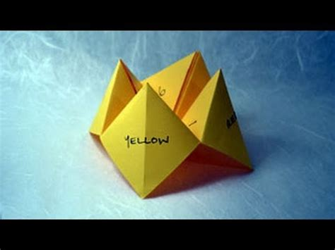how to make a fortune teller origami step by step how to make paper craft origami fortune teller step by