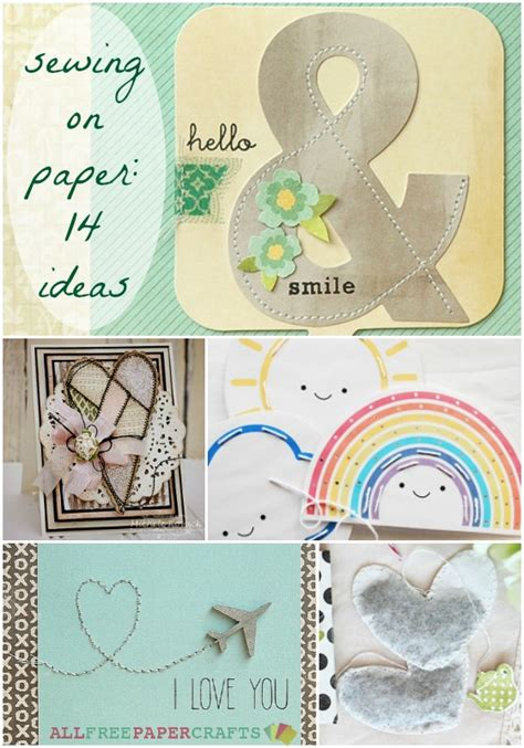 all free paper crafts sewing on paper 14 paper stitching ideas