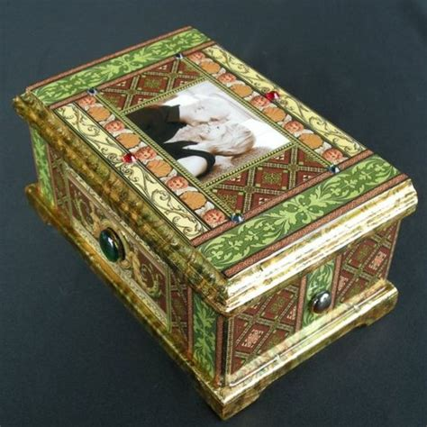 decoupage jewelry box ideas personalized engagement wedding decoupage box by daykopajj