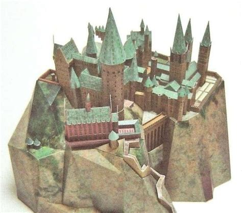 paper craft castle hogwarts castle papercraft castelli co