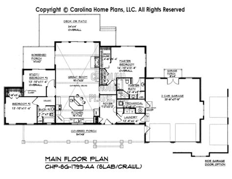 slab foundation floor plans small craftsman style home plan sg 1799 sq ft affordable