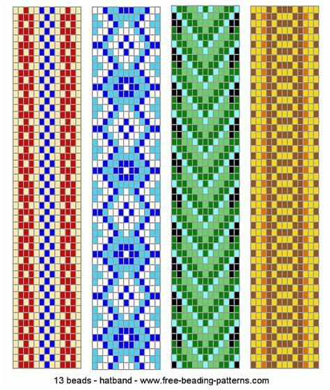 loom patterns hatband loom beadwork 018