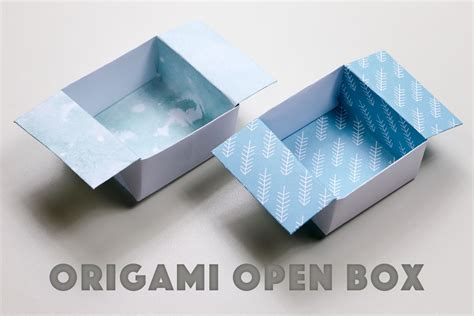 origami easy box origami open box easy