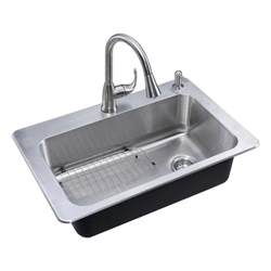 glacier bay stainless steel kitchen sink glacier bay all in one drop in stainless steel 33 in 2