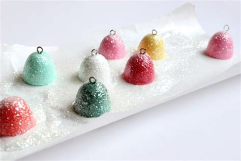 gumdrop decorations diy glittery gumdrop ornaments