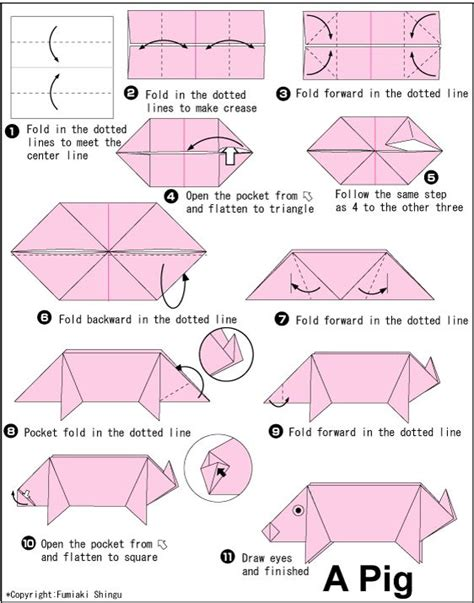 easy origami pig 1000 images about folding paper origami on