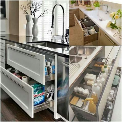 kitchen sink drawers home
