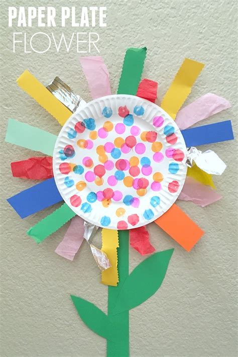 paper craft activities paper plate flower motor craft flower craft and
