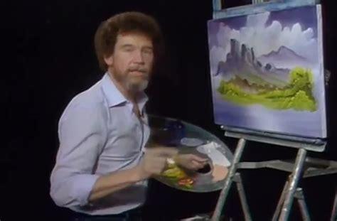 bob ross painting valley view pbs remixes bob ross