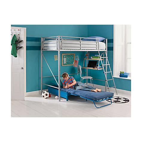 metal high sleeper bed frame sit n sleep metal high sleeper bed frame blue futon