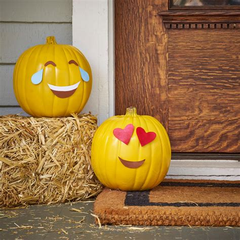 spray paint emoji how to make emoji pumpkins diy network made