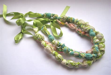 how to make beaded necklaces bead knot fabric necklace tutorial skip to my lou