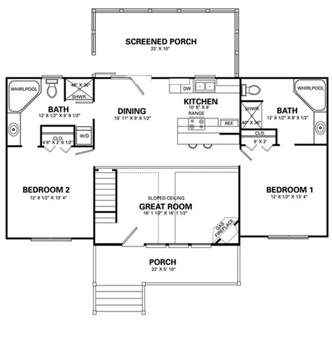 home design living room four bedroom house plans