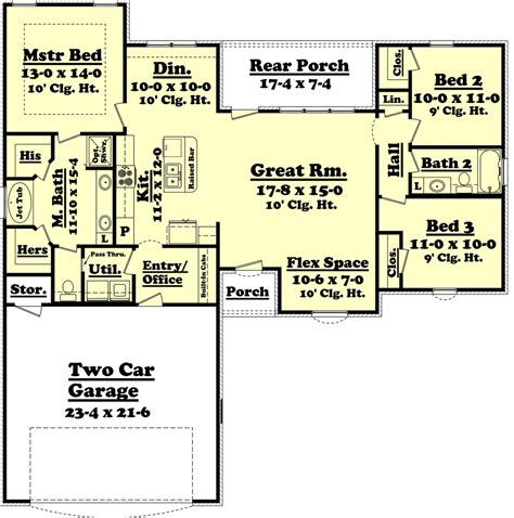 1500 sq ft house plans ranch style house plan 3 beds 2 00 baths 1500 sq ft plan