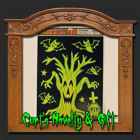 tree window cling window cling gid tree mix haunted prop