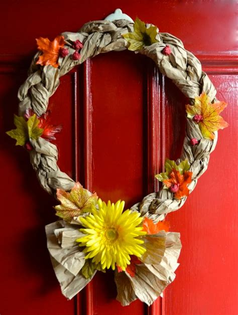 crafts for using recycled materials easy recycled crafts fall wreaths inner child