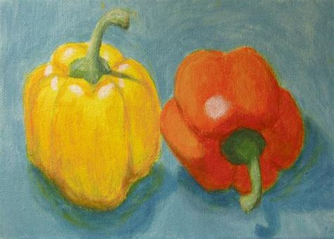 acrylic painting vegetables daily painting paint happy a painting a day