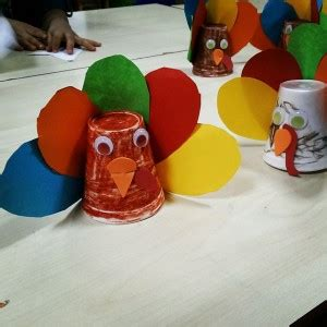 paper cup turkey craft fall craft idea for crafts and worksheets for