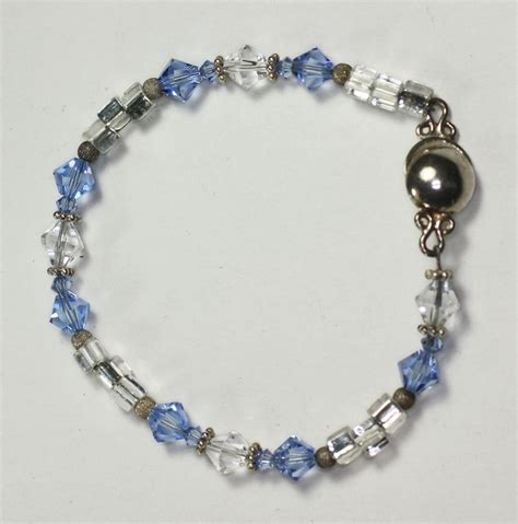 clear bead bracelet bead bracelet blue and clear magnetic clasp