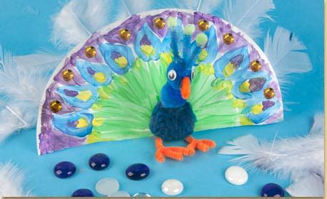 peacock paper plate craft paper plate peacock craft project ideas
