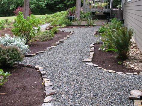 cheap landscaping rocks easy and cheap crushed rock pathway with rock edging