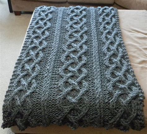 knitting patterns for larger best 25 cable knit blankets ideas on