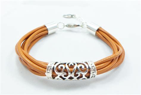 leather jewelry henna leather bangle bracelet 7 1 2 leather jewelry