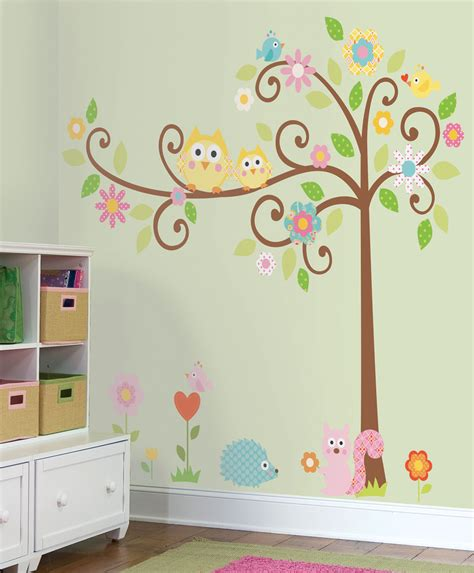 owl wall decals nursery nature theme removable wall stickers for rooms