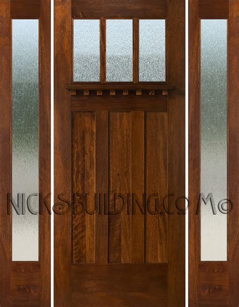 style front door craftsman style doors and sidelights