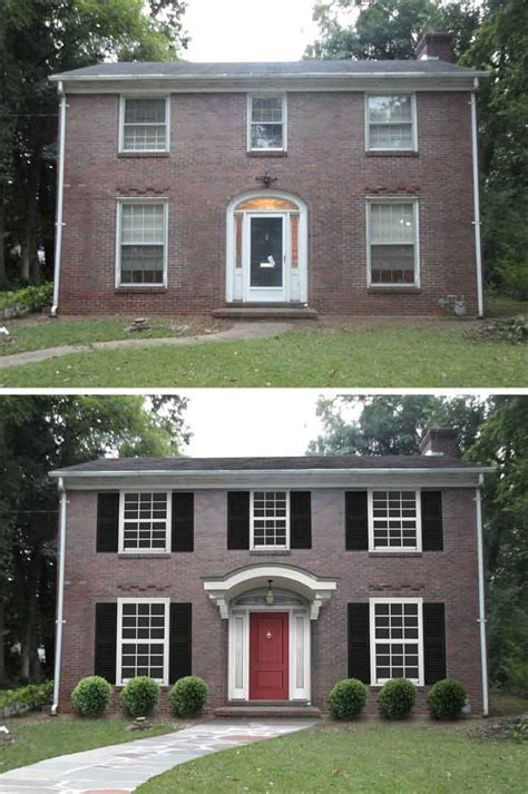 before and after small home 10 before and after curb appeal photos pretty purple door