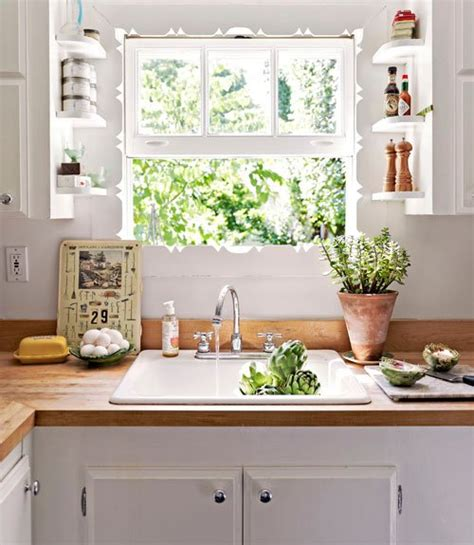 updated kitchens laurensthoughts superb kitchen window shelf 5 white cabinets and butcher