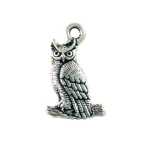 pewter charms for jewelry owl charm 22x14mm pewter antique silver plated wholesale