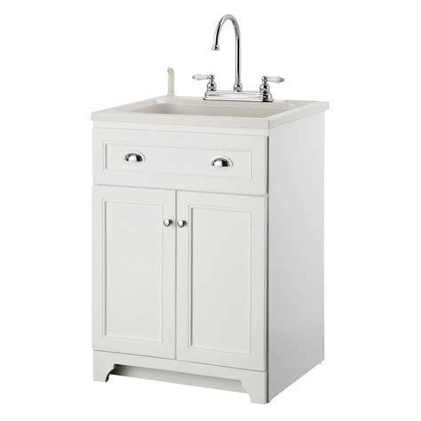 laundry sink with cabinet glacier bay all in one 24 2 in x 21 35 in x 33 85 in stainless steel laundry sink with faucet