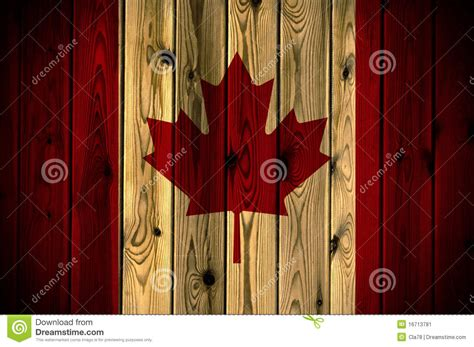 wooden canada wooden canada flag stock image image 16713781