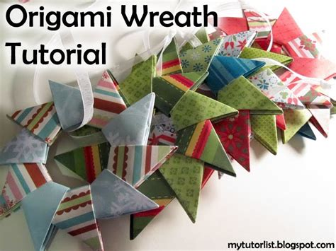 how to make a origami wreath origami wreath tutorial mytutorlist