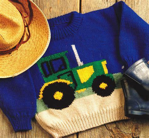free tractor knitting pattern tractor farm sweater baby children knitting pattern aran