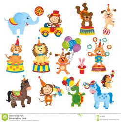 Set Of Animals In Circus Stock Photos   Image: 33348203   Journey & Co.   Pinterest   Circus