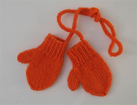 Toddler Mittens On A String Knit For Baby