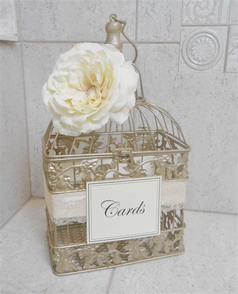how to make a wedding card holder small chagne gold wedding birdcage card holder wedding