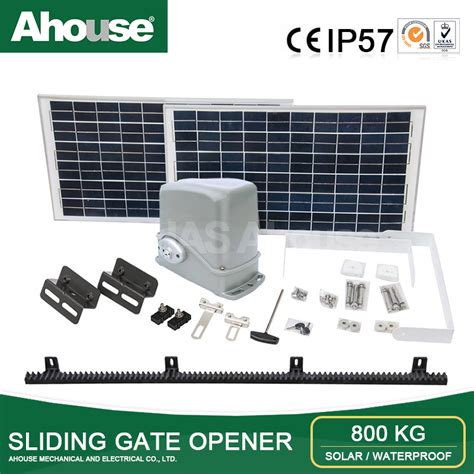 Electric Motor Italy by Ahouse Automatic Solar Power Sliding Gate Opener Electric