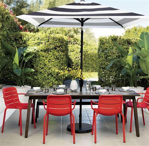 black and white striped umbrella patio patio furniture and decor trend bold black and white