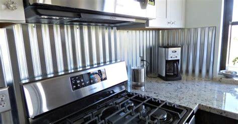 corrugated metal backsplash kitchen remodels pinterest