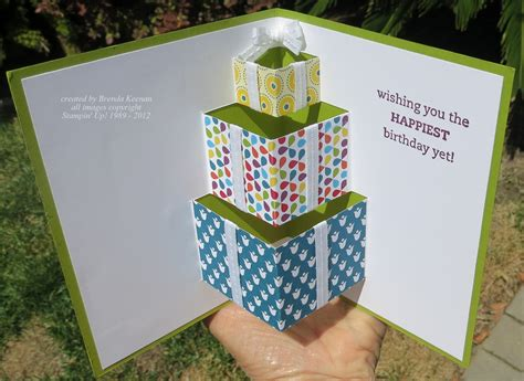 how to make a pop out birthday card folds class projects keenan kreations