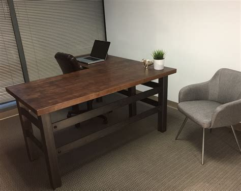 industrial style office furniture buy a crafted l shape industrial office desk