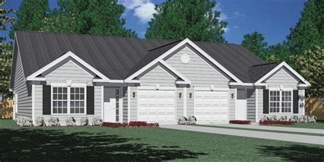 One Story Craftsman Style Home Plans southern heritage home designs duplex plan 1261 a
